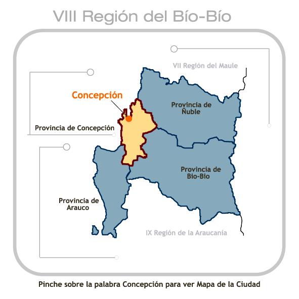 Mapa Octava Región