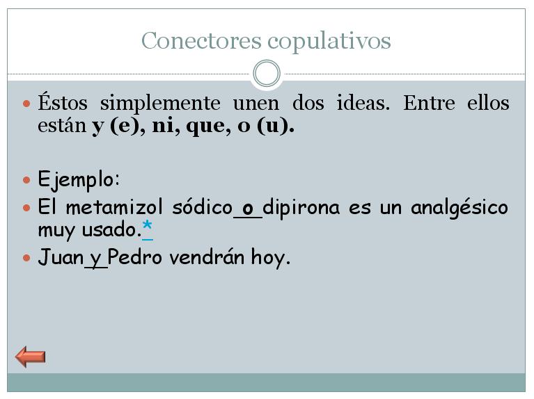 Conectores Copulativos