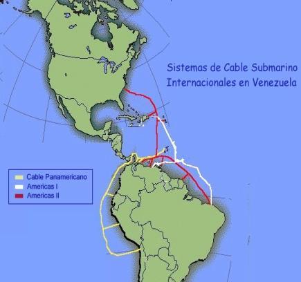 Mapas de Redes de Fibra Optica Argentina y America